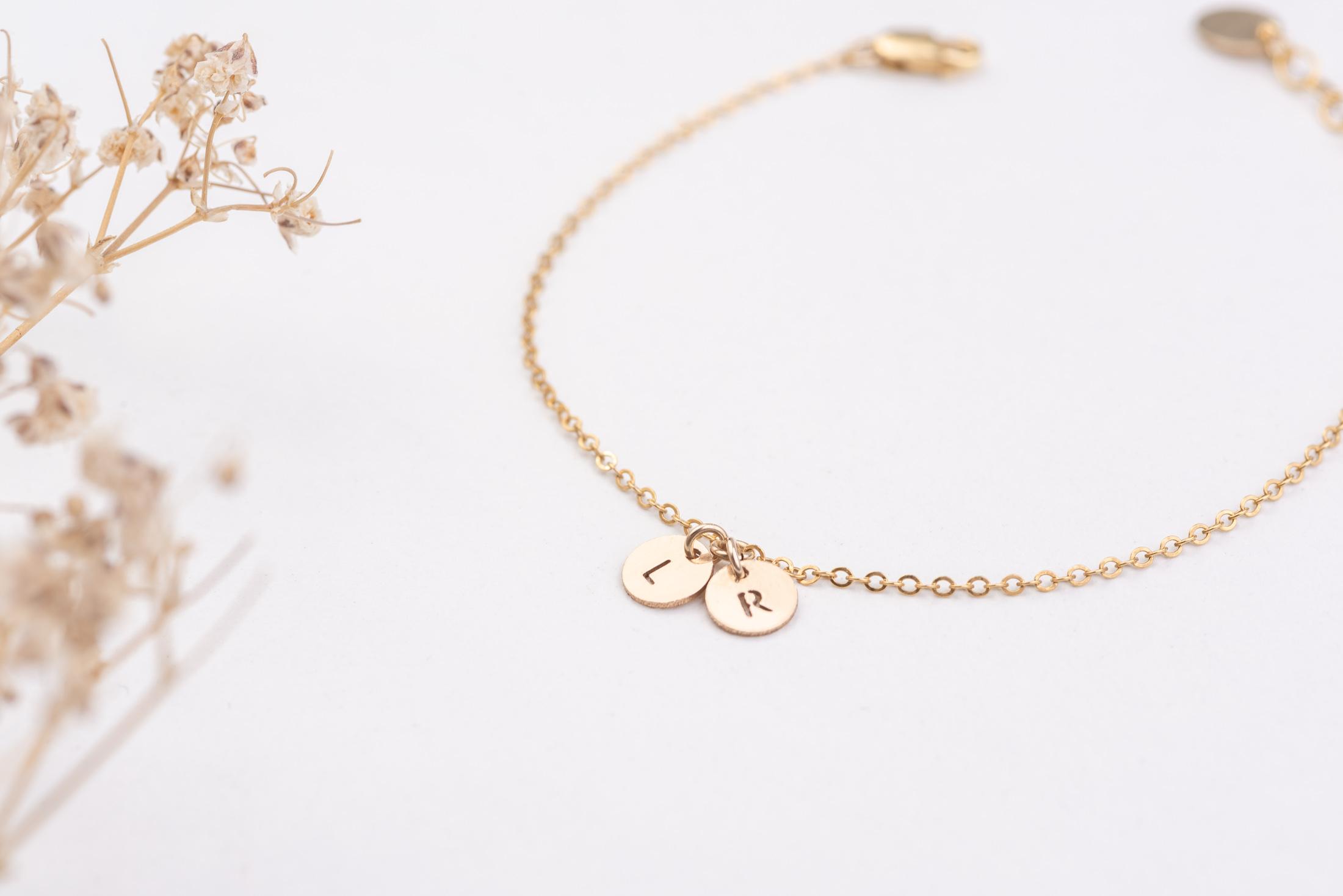 bracelet personnalisable or gold filled 14k
