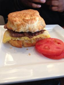 Lunch breakfast sandwich