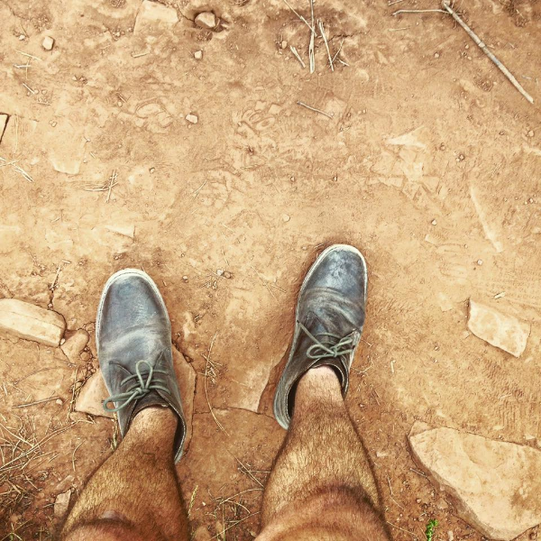 My shoes after I hiked for two hours.