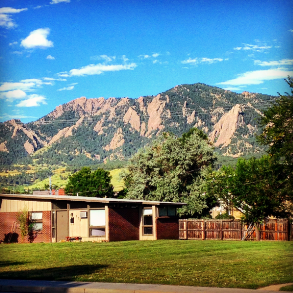 A mountain town. (Boulder, CO)