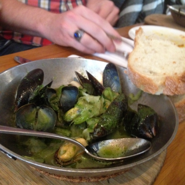 The mussels!