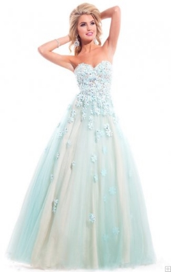 strapless sweetheart prom dress