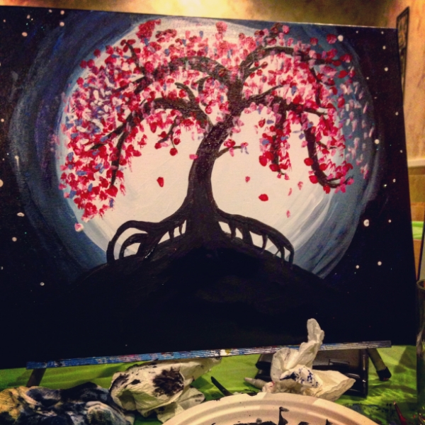 My gorgeous painting. Contact me with bids.