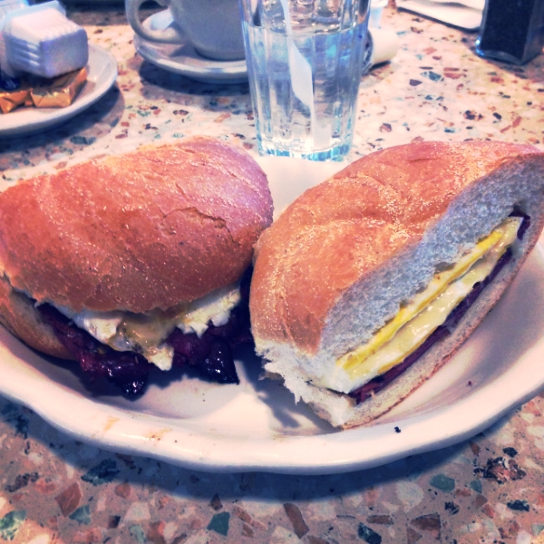 Pastrami and Egg Sandwich