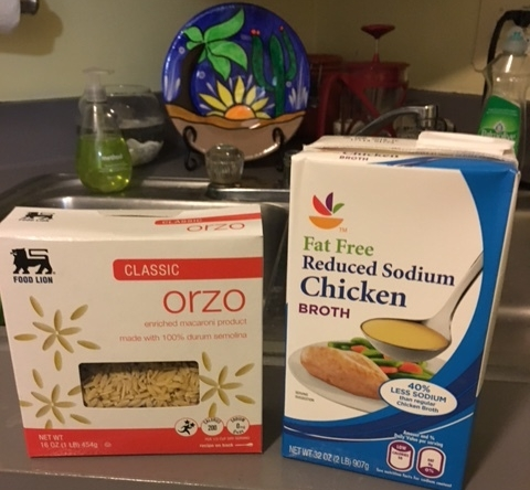Orzo and Chicken Broth