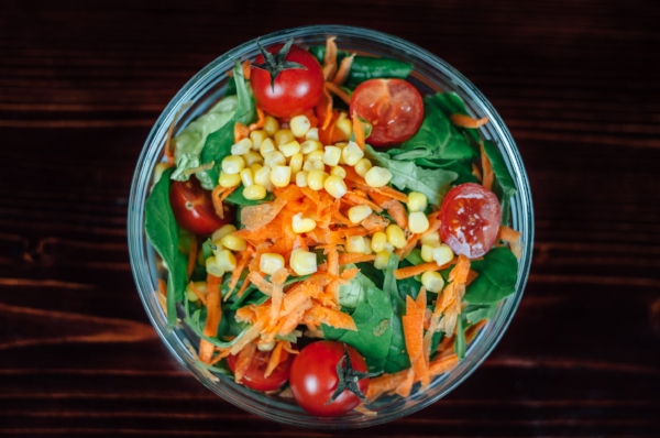 """This salad is called """"Straight From the Garden,"""" and I get it every time I come to Raw."""