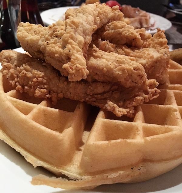 Speakeasy Grill chicken and waffles