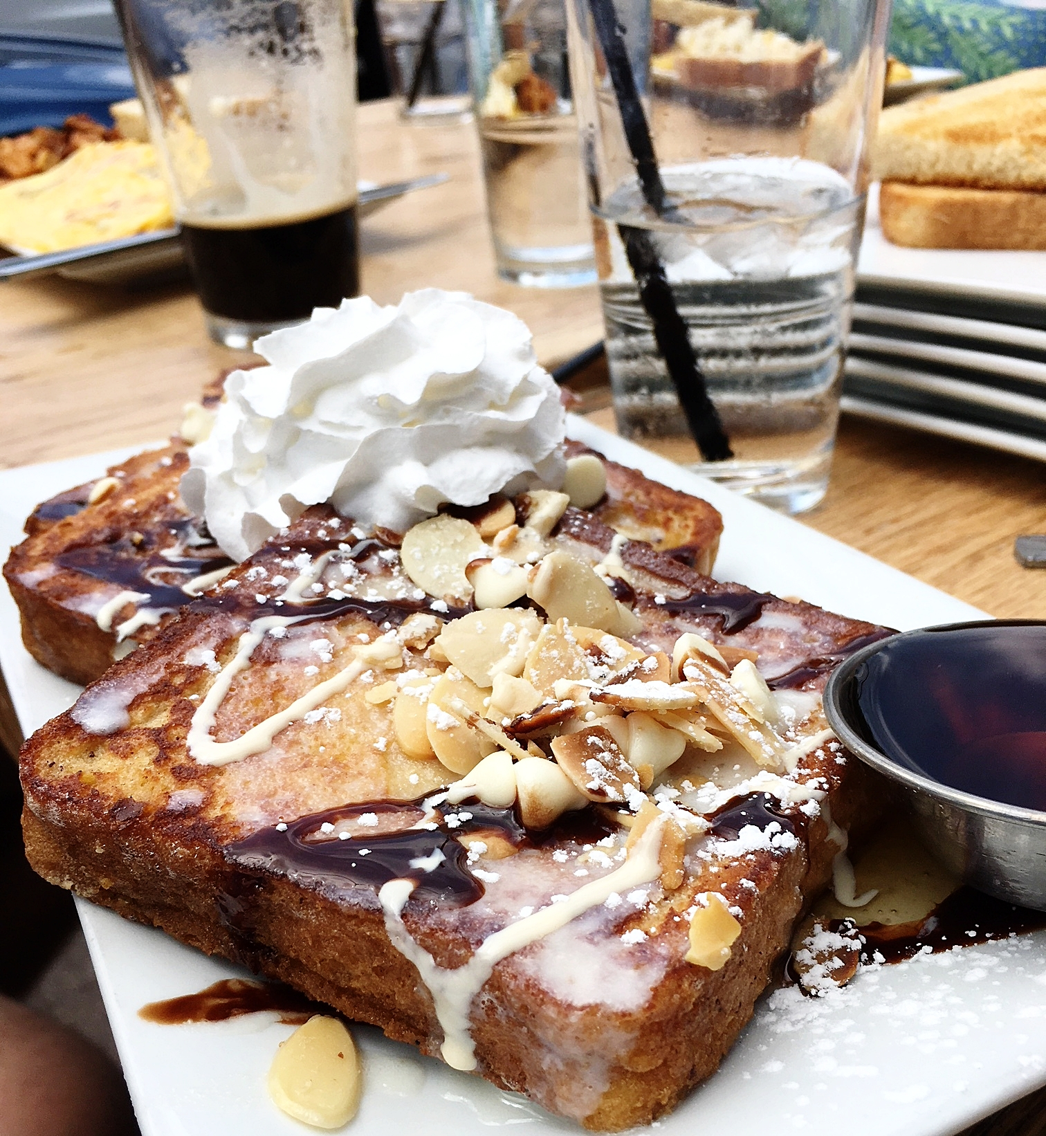 Cannoli french toast brunch
