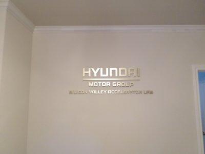 Hyundai Acrylic Dimensional Lobby Sign