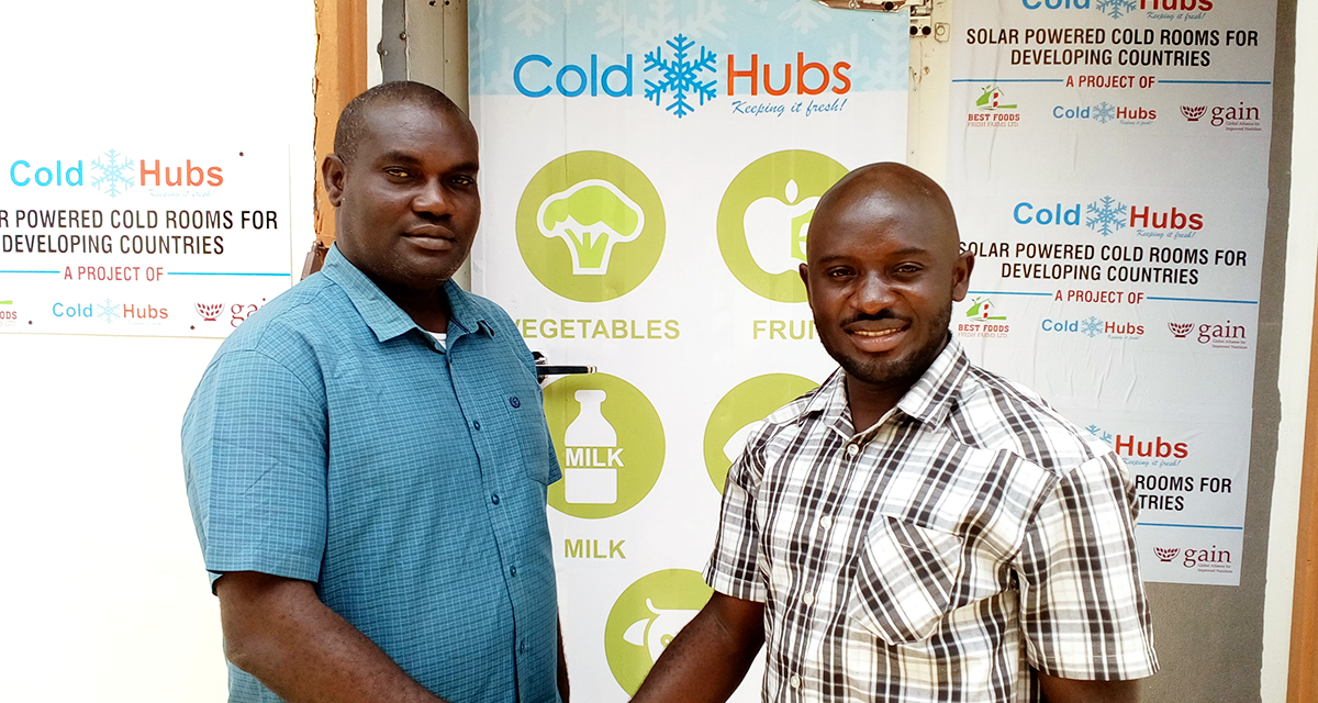 """Best Foods Fresh Farms Nigeria Limited tapped ColdHubs to support the renovation of their cold room and also to integrate solar power and energy storage in the remodeled cold room. It was a successful partnership between the two companies. ColdHubs is encouraging companies with old cold rooms to tap into this model.   """"Building a 100% solar-powered coldroom for Best Foods Fresh Farms, was a way forward, this ensures good quality food availability and minimizes food loss. We are happy that it was successful and Best FoodFreshFarmshould never again be worried on power to keep the cold room running. We believe that other companies will tap into this opportunity to refurbish their existing cold rooms""""   – Bright Benjamin Igbokwe; Chief Operating Officer, ColdHubs Limited."""
