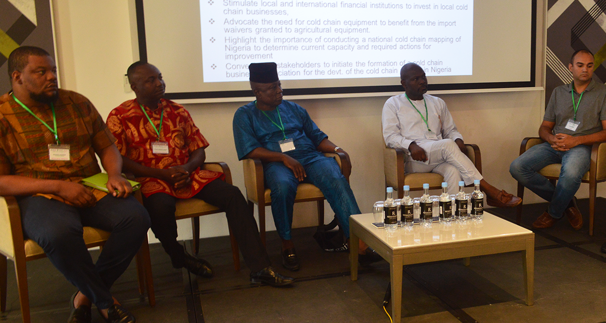 Coldhubs participated in this year Nigeria Cold Chain Summit 2017. The Summit was put together by the Global Alliance for Improved Nutrition (GAIN) project, Post-Harvest Alliance for Improved Nutrition (PLAN), USAID and the Rocekerfeller Foundation. The Summit addressed the status of the cold chain industry in Nigeria, the importance of the cold chain as the catalyst and driver for achieving reduction in postharvest losses in Nigeria.  The CEO of ColdHubs, Nnaemeka Ikegwuonu, spoke in two sessions –the B2B Discussion on Operational Models for Cold Storage and the session on Traditional and Renewable Energy Solutions for Cold Chain.
