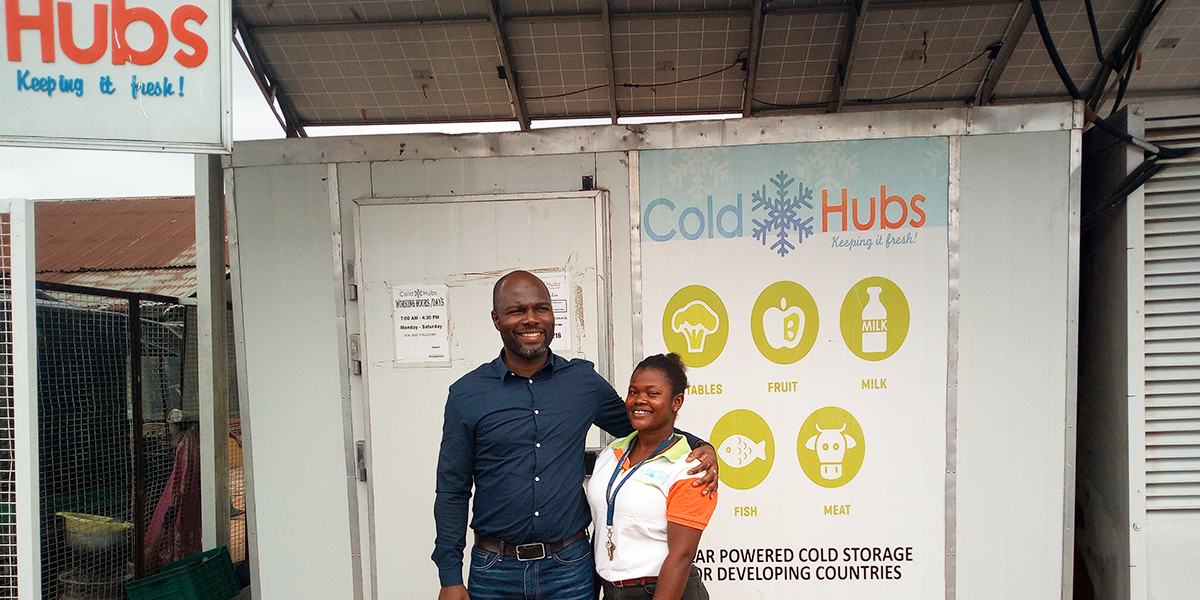 ColdHubs is exploring partnership for additional deployment of ColdHubs, in the Niger-Delta with the PIND Foundation.  PIND is Nigerian non-profit organization, working with partners to build peace and equitable economic development in the Niger Delta Region of Nigeria.  Teslim Giwa Appropriate Technology Enabled Development (ATED) Manager at PIND recently visited ColdHubs, held a strategy meeting with CEO and the rest of the ColdHubs Team and saw the work on the ground.