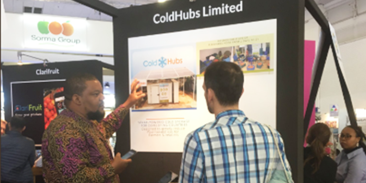 "ColdHubs was among the 20 top innovative companies bringing solutions to post-harvest challenge at the Fruit Logistica in Berlin.  The CEO of ColdHubs said ""We have come to a point in Africa where we must consolidate our economic growth. To do this, we need innovation-creative solutions that drive our development forward.""  Walking into Fruit Logistica feels like entering the produce equivalent of Willy Wonka's Chocolate Factory. The Berlin-based trade show has grown to be the largest of its kind globally, attracting more than 77,000 visitors from across the produce supply chain, including, retailers, distributors, importers and wholesalers."