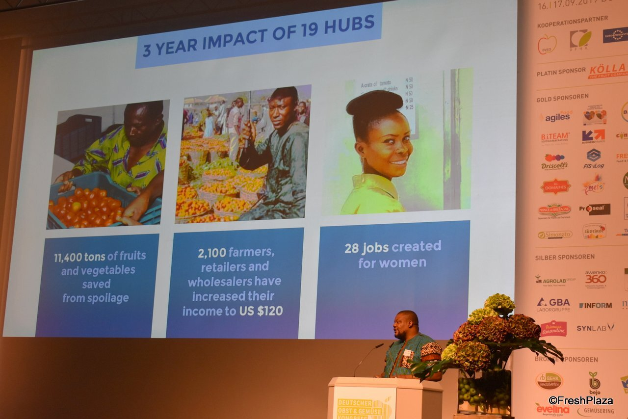 """The CEO Mr Nnaemeka Ikegwuonu at the German Fruit & Vegetable Congress held at Düsseldorf, Germany last week gave a speech presentation. """"The German Fruit & Vegetable Congress (DOGK) is an event with speeches in plenary and parallel forums focusing on current topics throughout the supply chain """".  The congress is focused at providing opportunities to build relationships among stakeholders adding value to the agricultural giving insights into better practice oriented implementations."""