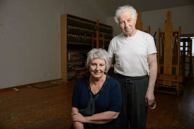 ARISTS ILYA AND EMILIA KABAKOV IN THEIR HOME/ STUDIO/ EXHIBITION SPACE (JEFF BACHNER FOR NEW YORK DAILY NEWS)