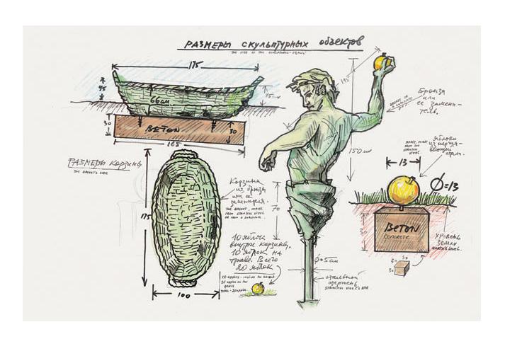 Drawing-for-the-installation-The-Golden-Apples-Singen-2000-watercolor-felt-pen-279-x-43 (1).jpg