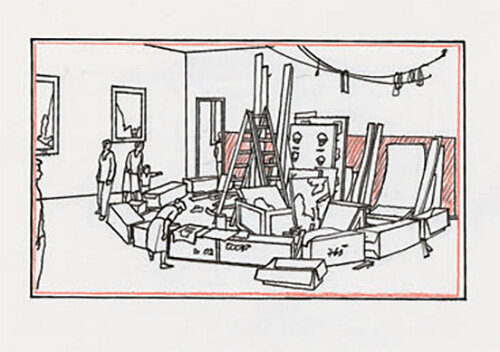 Schematic-view-1995-black-ink-colored-pencil-lead-pencil-and-ball-point-pen-219-x-296.jpg