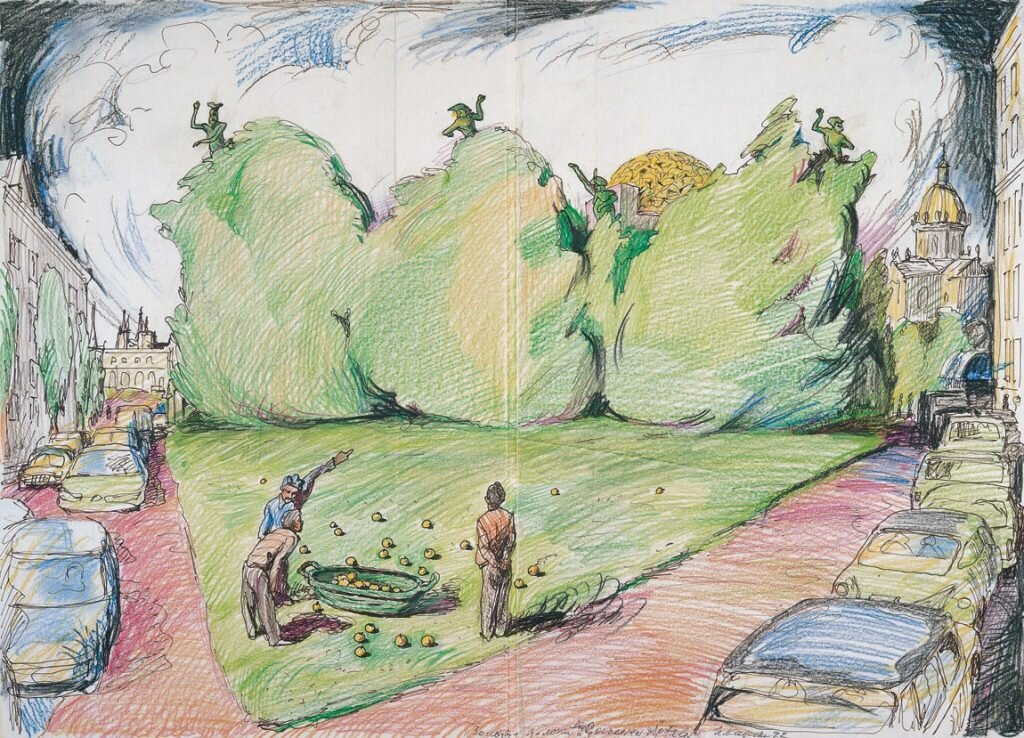 Concept-drawing-for-The-Golden-Apples-1992-365-x-507-cm-signed-and-dated-bottom-right.jpg