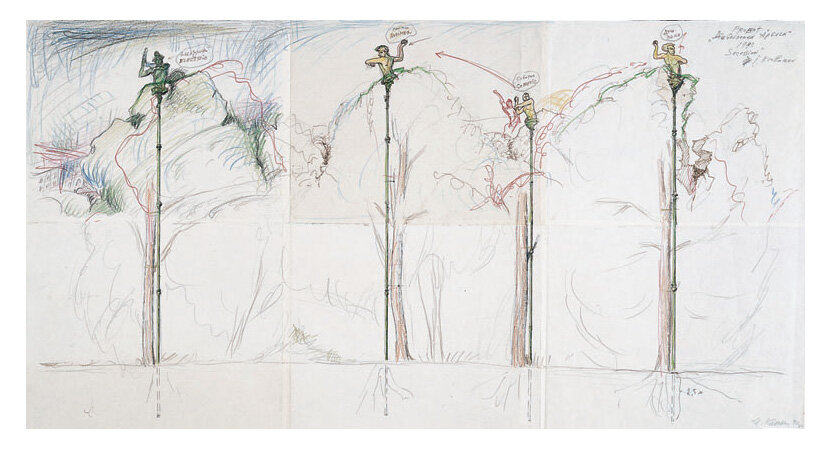 Sketch-longitudinal-section-for-The-Golden-Apples-1992-43-x-825-cm-signed-and-dated-botto.jpg
