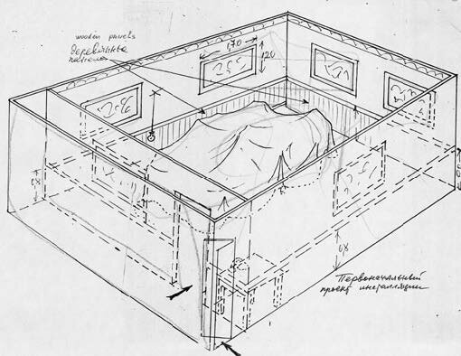 Project-sketch-and-schematic-floor-plan-not-dated-colored-pencil-on-photocopied-sketch-216-x-279-cm.jpg