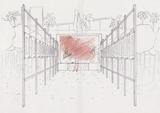 Perspective-sketch-not-dated-colored-pencil-on-photocopied-sketch-297-x-421-cm.jpg