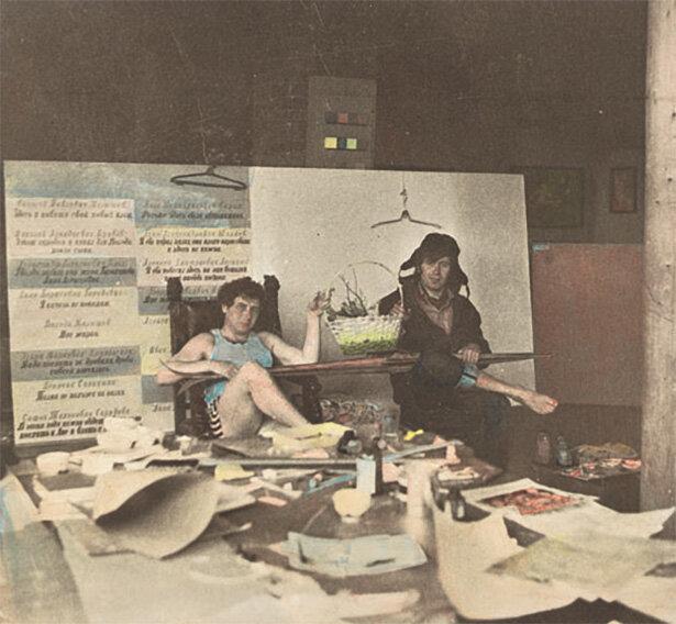 Ilya-Kabakov-and-Yuri-Kuper-in-Kabakov's-Moscow-studio-1970-colored-photography-by-Yuri-Kuper-19.jpg