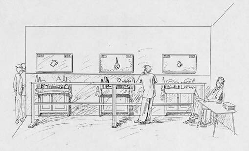 Perspective-sketch-of-the-exhibition-in-Paris-1991-1991-photocopy-123-x-211-cm.jpg