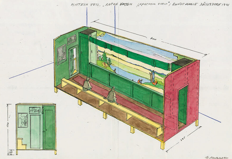 Project-sketch-with-section-for-the-exhibition-in-Düsseldorf-1991-1991-28-x-407-cm-signed-and-d.jpg