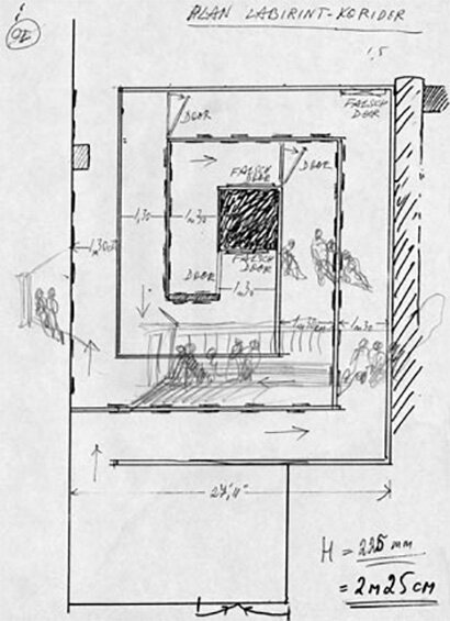 Floor-plan-sketch-and-studies-for-the-exhibition-in-New-York-1990-not-dated-297-x-.jpg