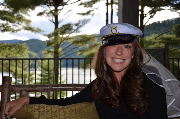 *INSIDE SCOOP* her future hubby is a Navy Seal ---> hence the sailor hat and veil