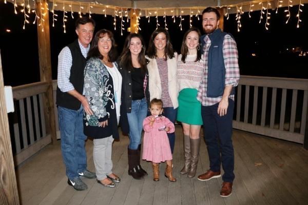Daniel's family + sweet little cousin McKinely