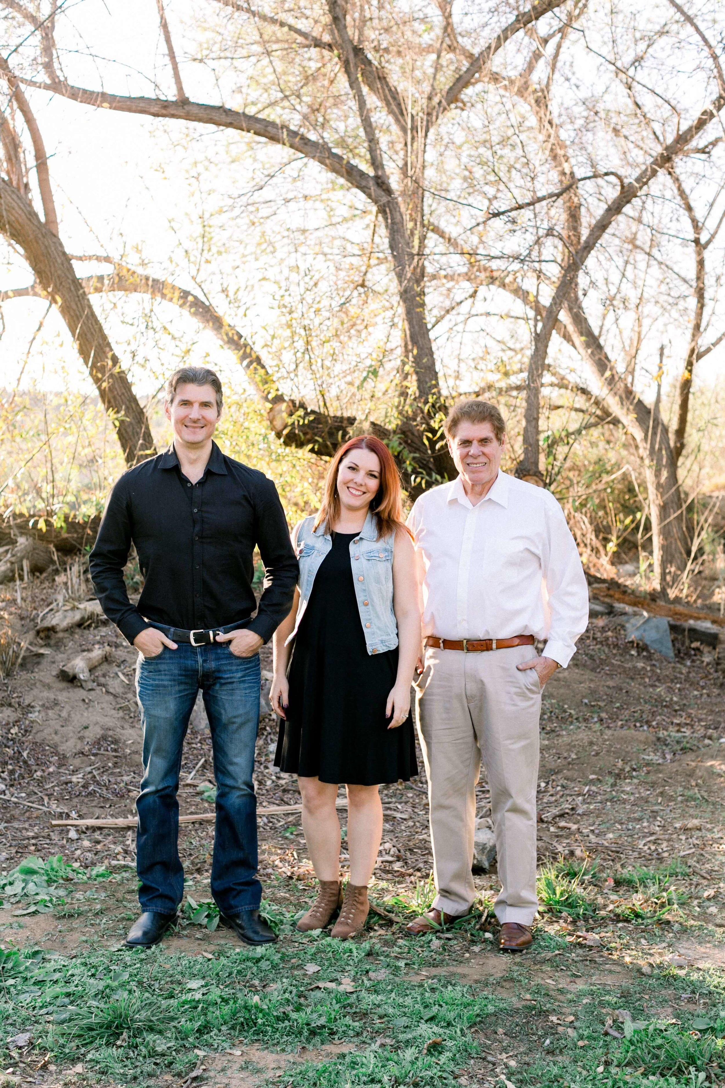Steve Jr., Caitlyn, and Steve Sr.