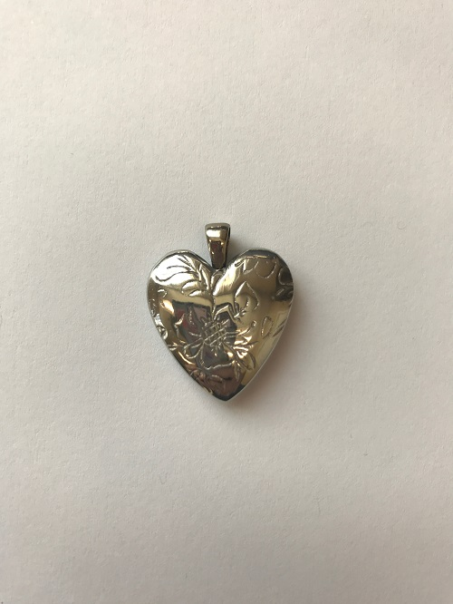 Style #149BR  Bronze floral heart  $95.00