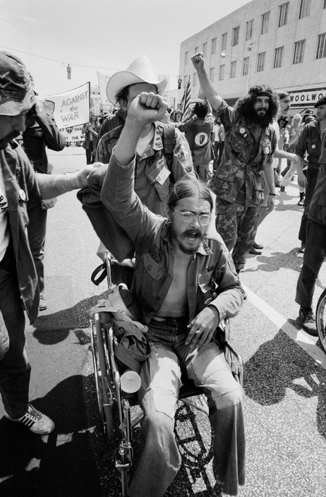 Vietnam veterans rally against the war. Photographed by Abbas/Magnum.
