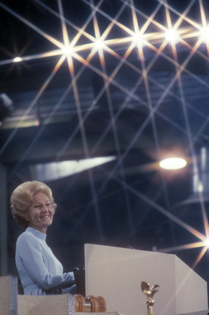 First Lady Pat Nixon speaking at the Republican Convention. Photographed by Burt Glinn/Magnum.