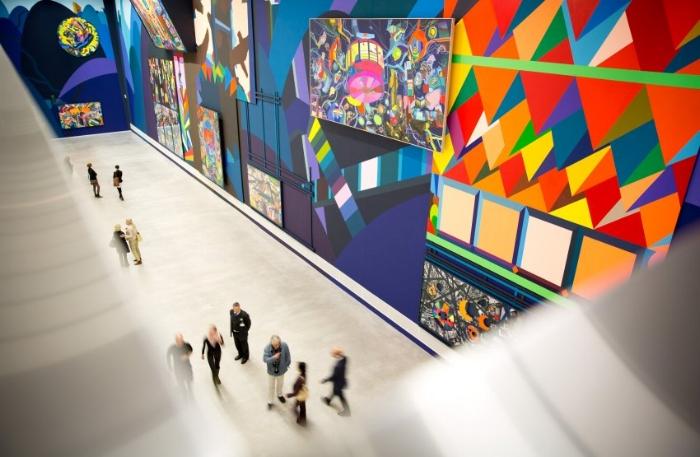 Franz Ackermann at the Berlinische Galerie. PHOTO: DPA
