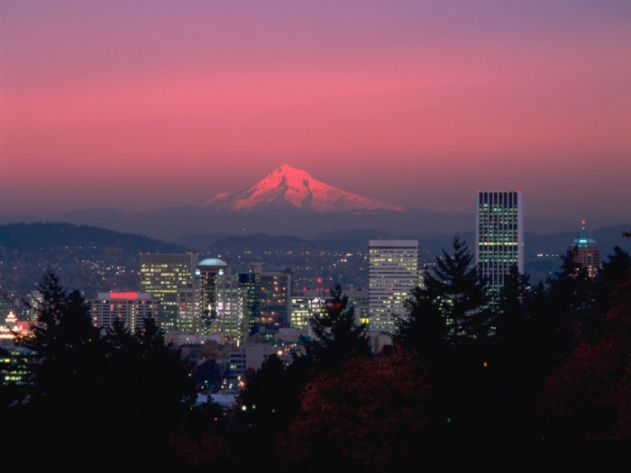 View of mt. hood from portland, oregon.