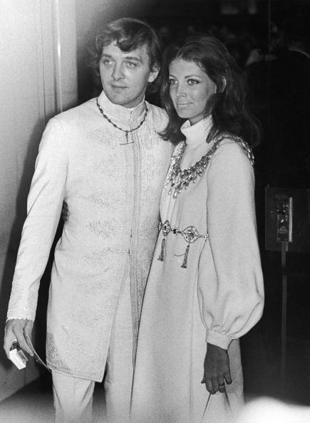 A dreamy couple all in white, David Hemmings and Gayle Hunnicutt at the premiere of  Oh! What A Lovely War  in London, 10th April 1969.