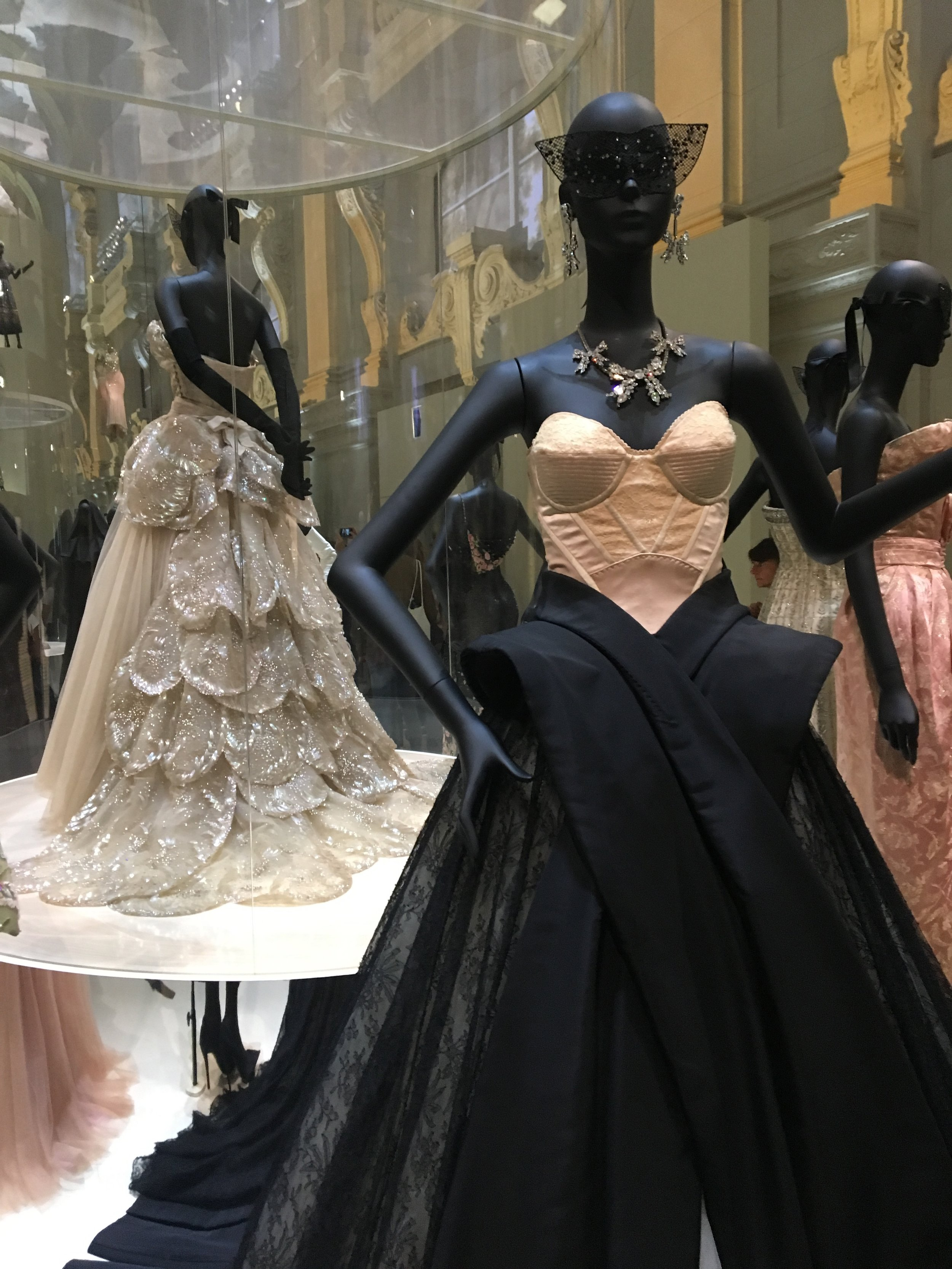 Foreground, John Galliano for Christian Dior (HC A/W 2009), and background, 'Venus' by Christian Dior (HC A/W 1949)