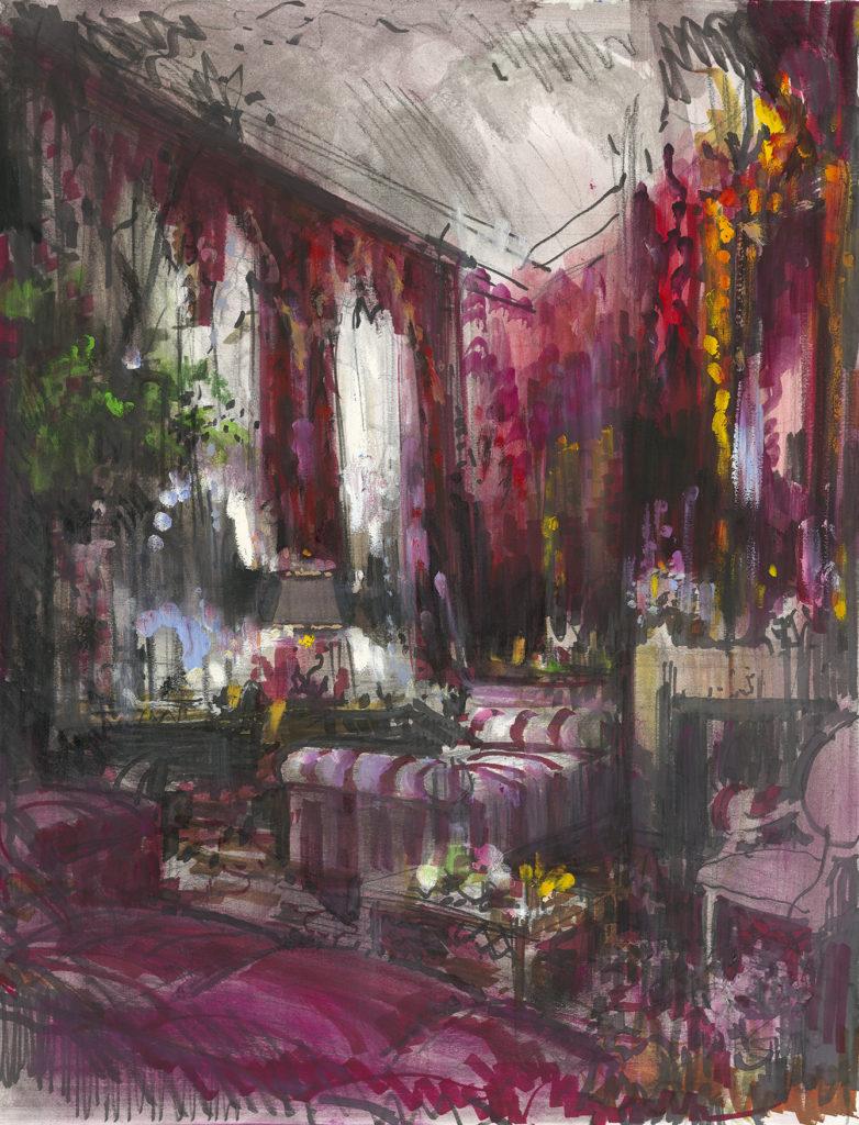 Carolina Herrera's Manhattan sitting room