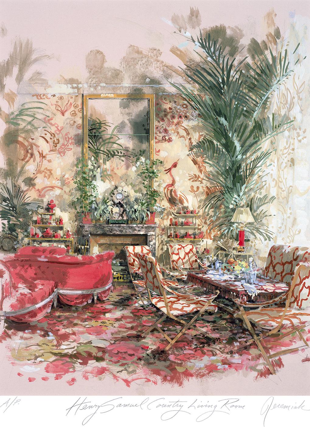 Henri Samuel's country living room