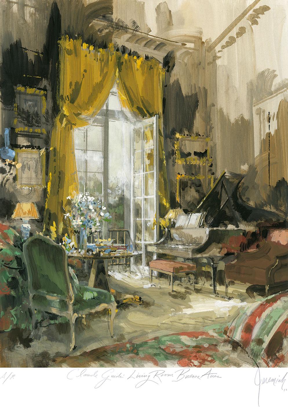 Claude Guidi's living room