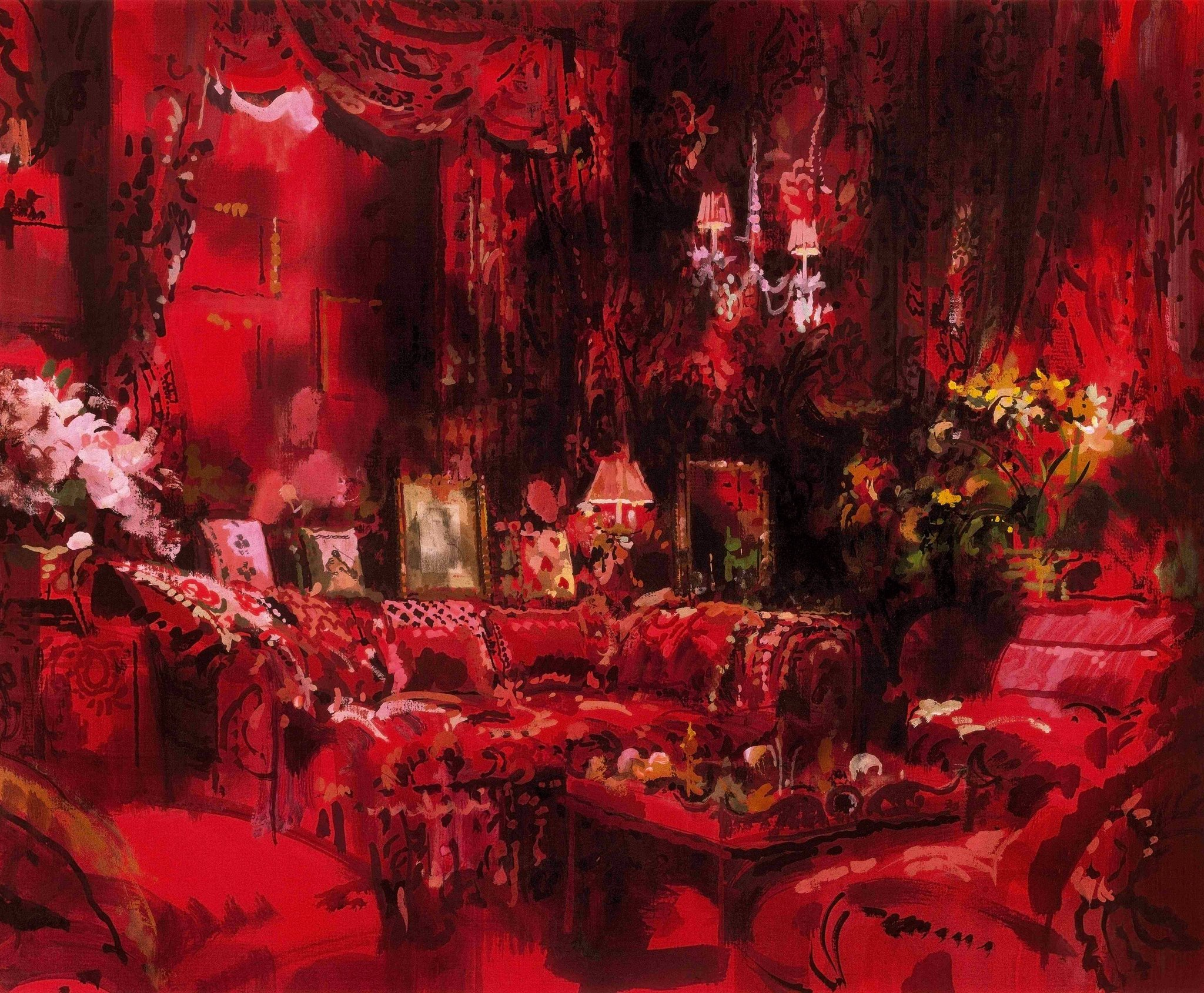"""A garden in hell"", Diana Vreeland's Park Avenue sitting room designed by Billy Baldwin"