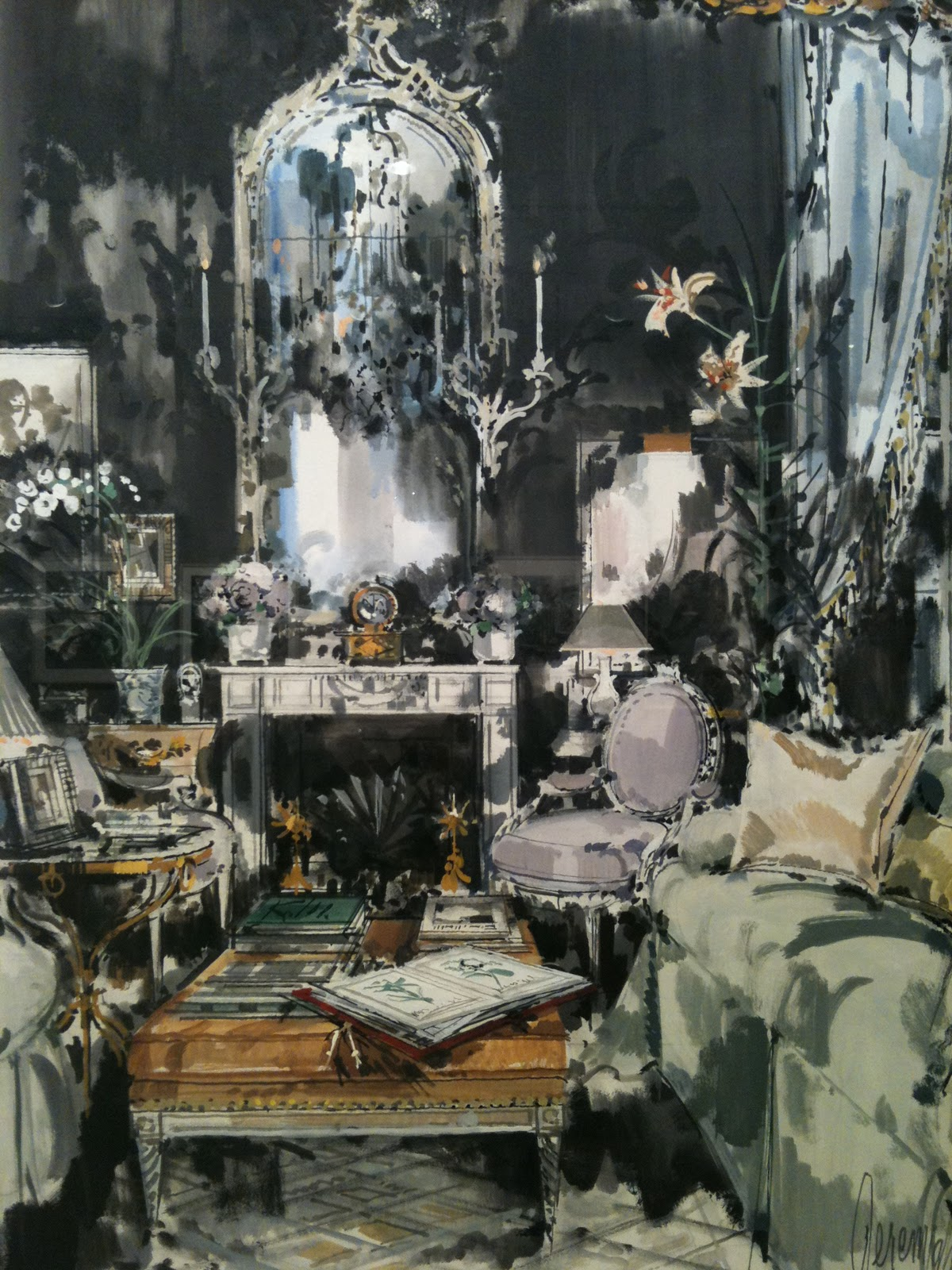 David Hicks's living room