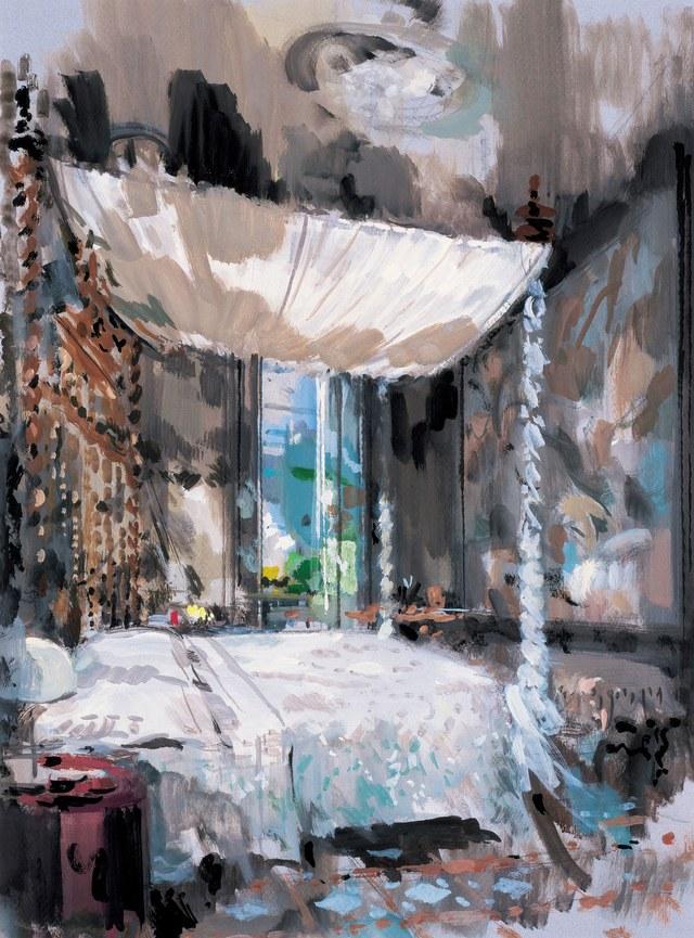 Elsa Peretti's bedroom in Barcelona