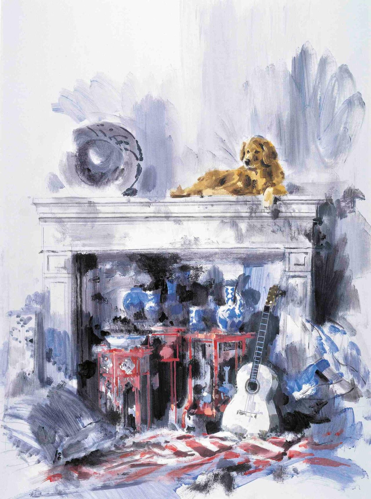 Bruce Weber's living room