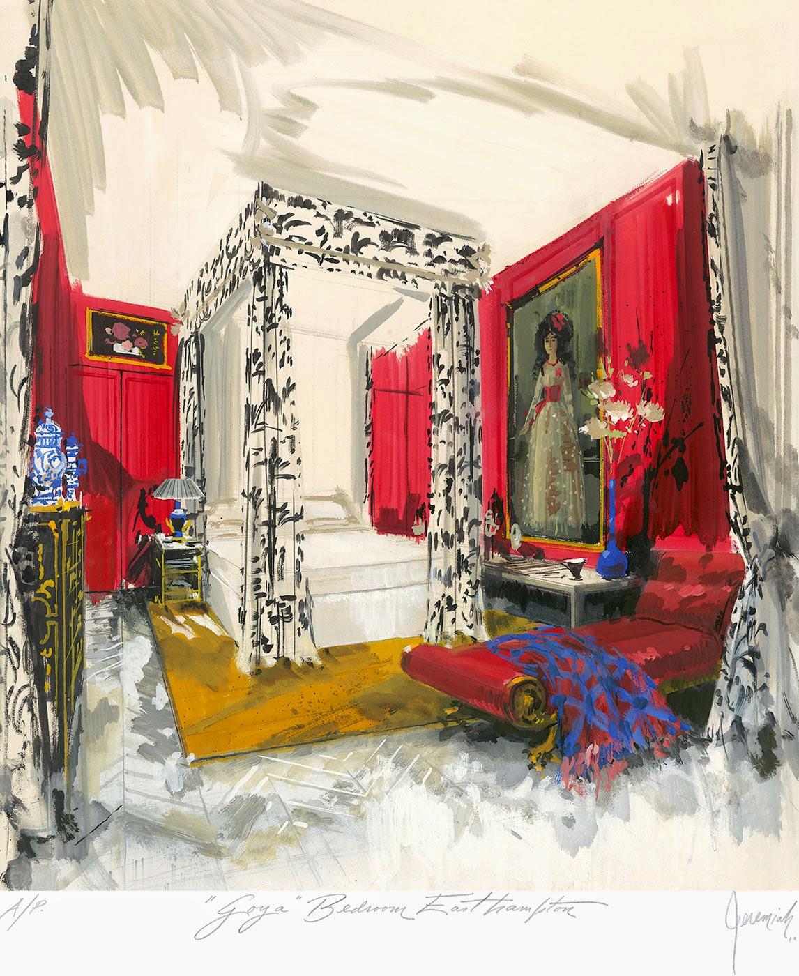 A Goya-themed bedroom in East Hampton
