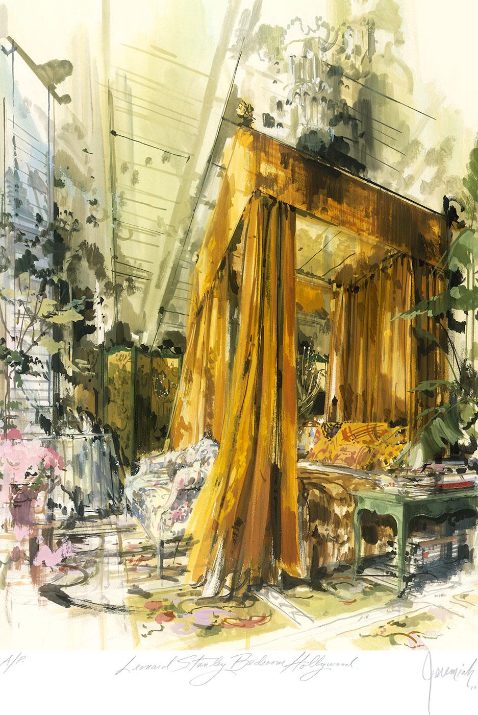 Leonard Stanley's Beverly Hills bedroom
