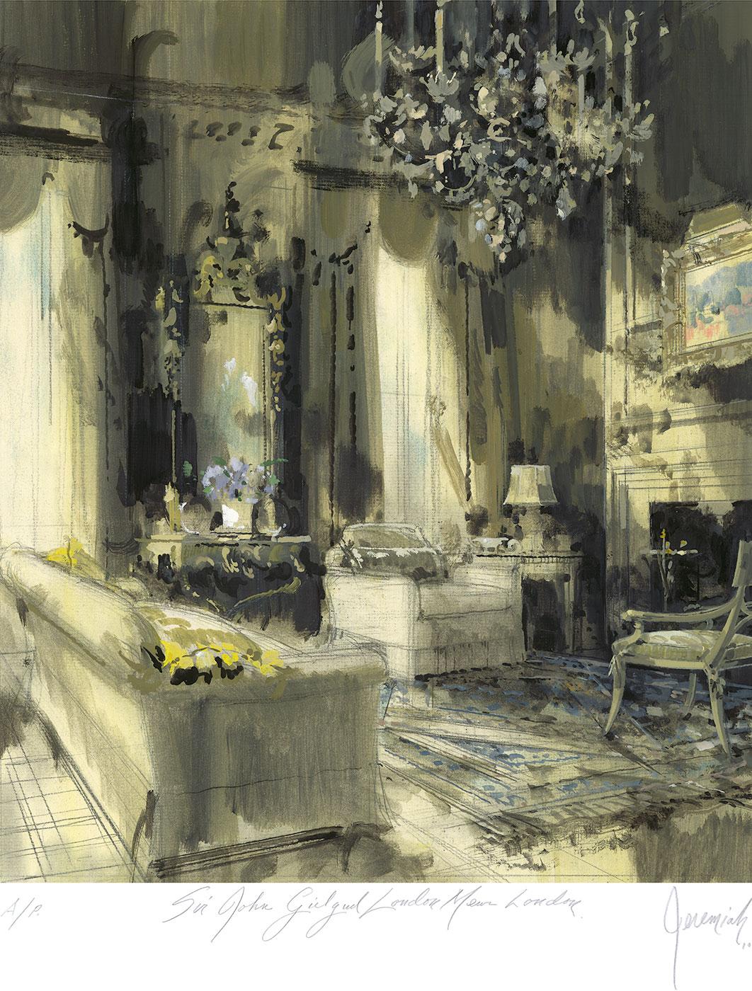 Sir John Gielgud's sitting room