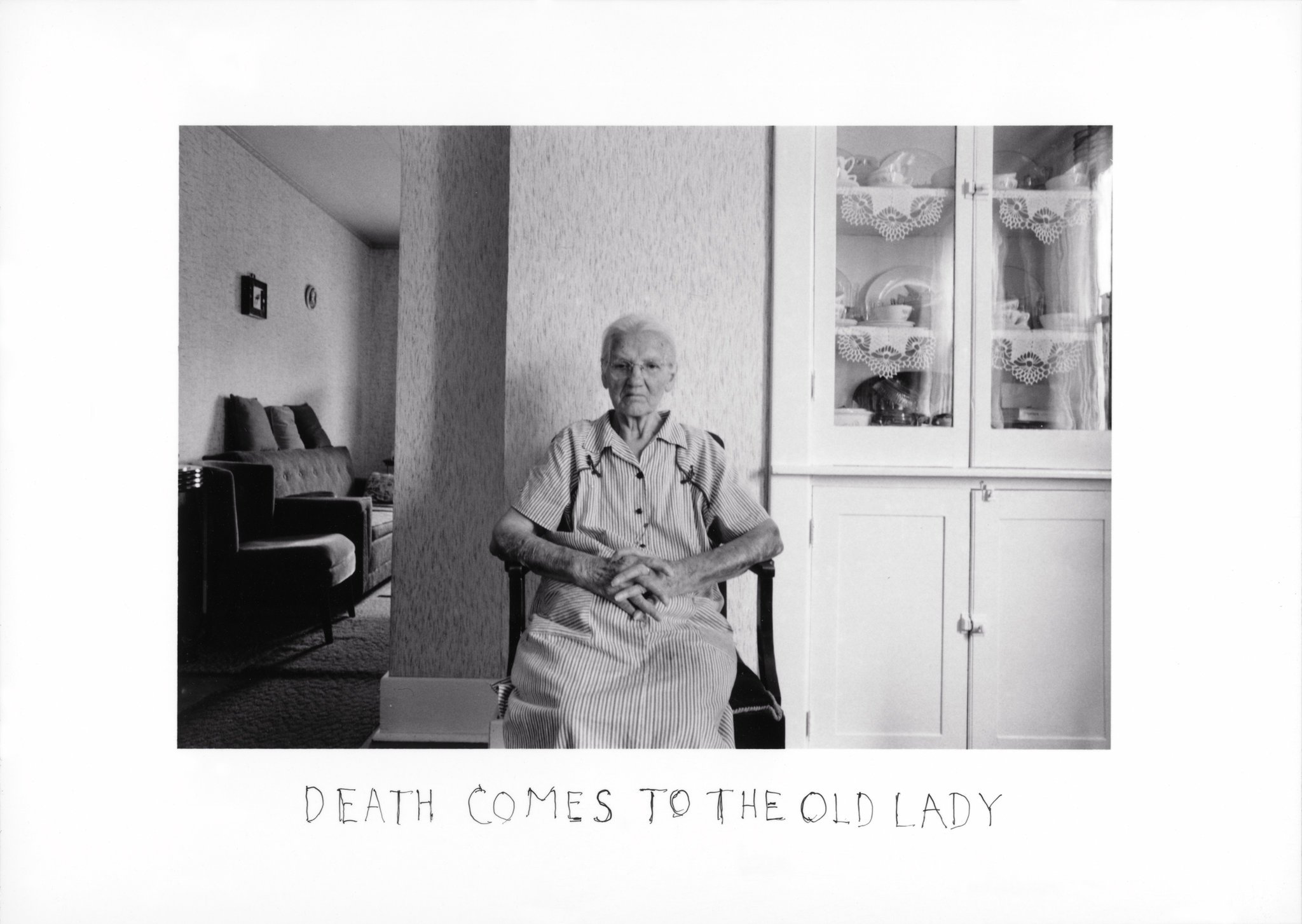 "From the series, ""Death Comes to the Old Lady"", 1969."